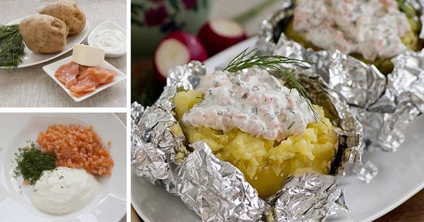 Картофель, запеченный с рыбой: изумительное блюдо с необычным соусом