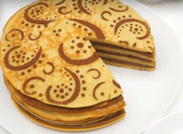 """Блинный торт """"Зебра"""" - идеальное блюдо к масленице"""