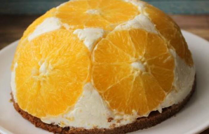 Вкуснейший творожный тортик с апельсинами