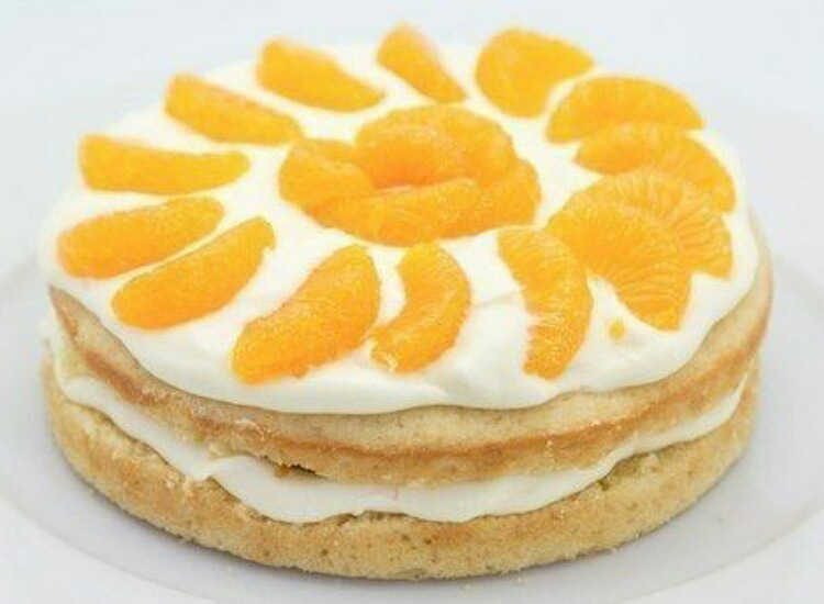 Восхитительный лимонный торт с мандаринами