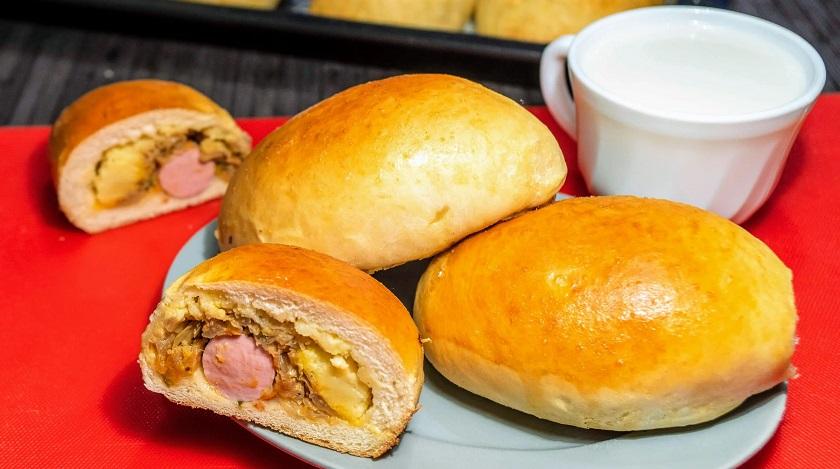 Вкуснейшие пирожки со сложной начинкой: блюдо с гарниром внутри