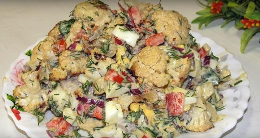 Яркий салат с цветной капустой: все просто, легко и невероятно вкусно