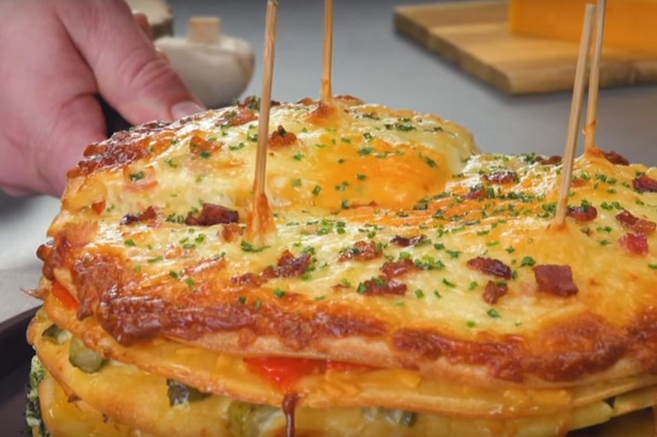 Невероятно вкусный сырный омлет