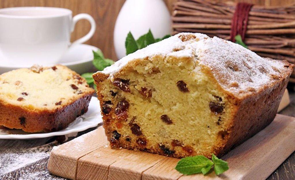Отличная выпечка к чаю - домашний кекс с изюмом