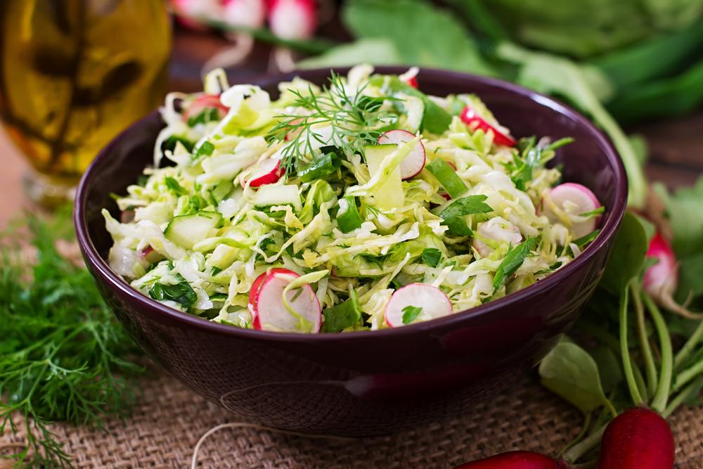 Постный салат из капусты