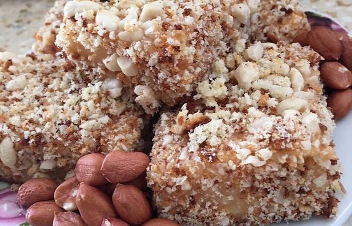 Вкуснейшие бисквитные пирожные с арахисом