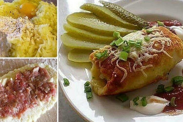 Аппетитные картофельные рулетики с мясом