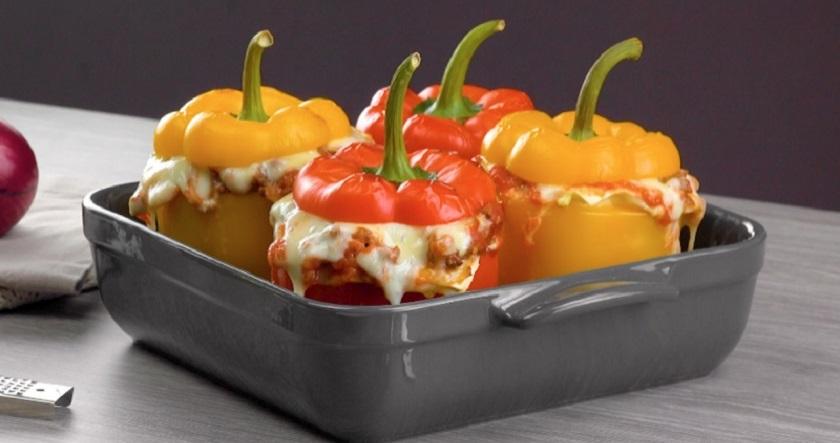 Мини-лазанья в сладком перце: необычно, но очень привлекательно и аппетитно
