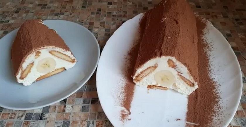 Вкусный торт без выпечки:  готов через 10 минут