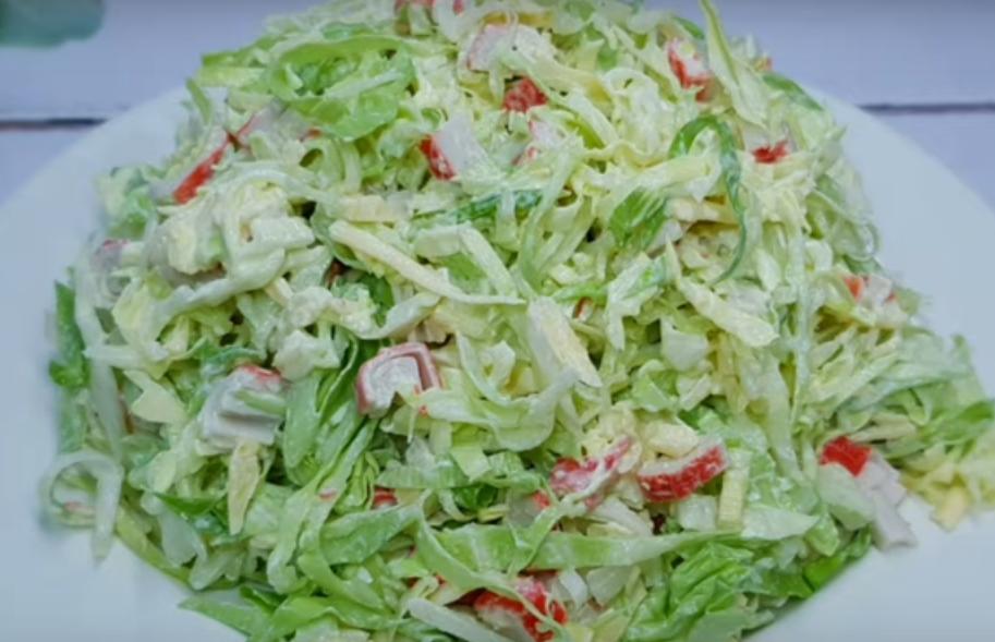 Новый салат из капусты - все будут просить добавки