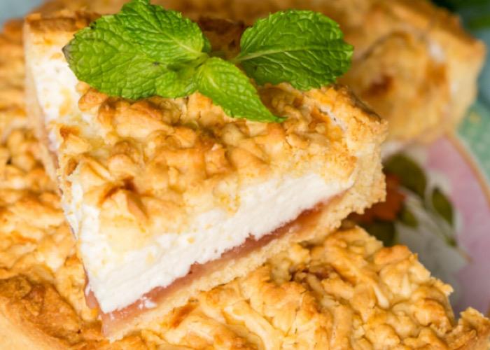 Вкуснейший песочный пирог с суфле