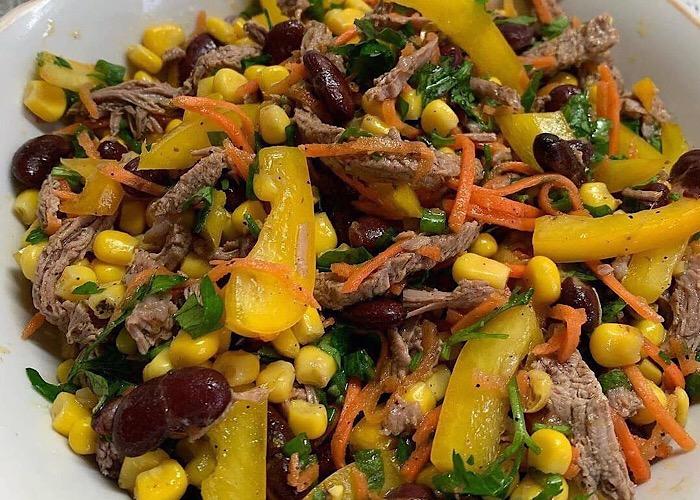 Мега вкусный салатик с говядиной