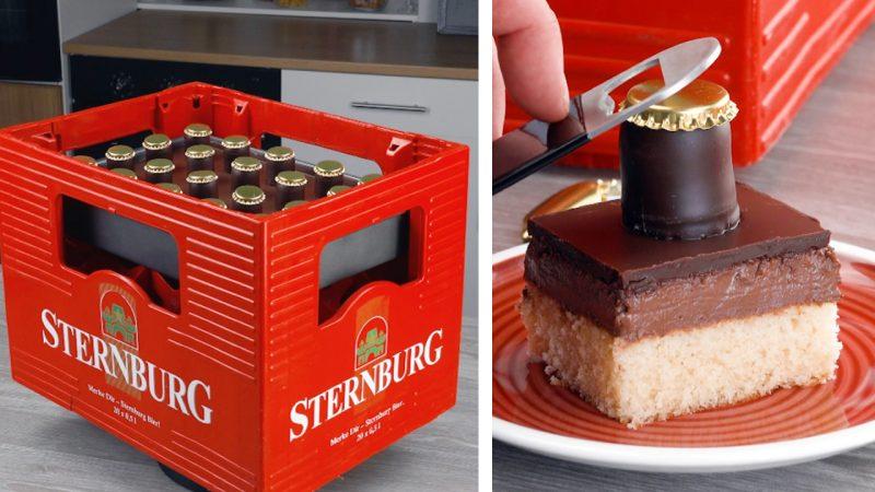 Шоколадный торт с пудингом и пивом: десерт для настоящих мужчин