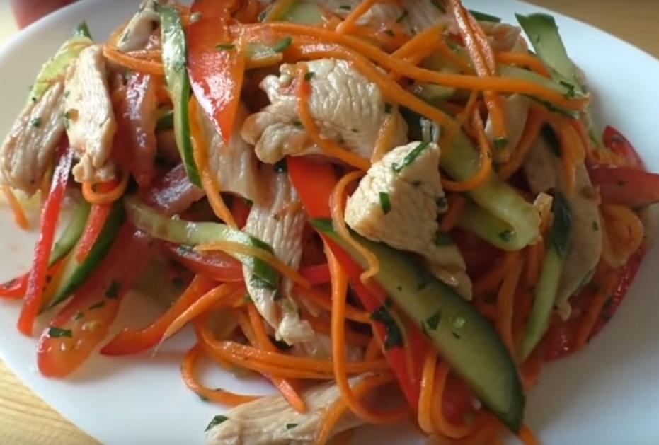 Необычайно аппетитный салатик с мясом