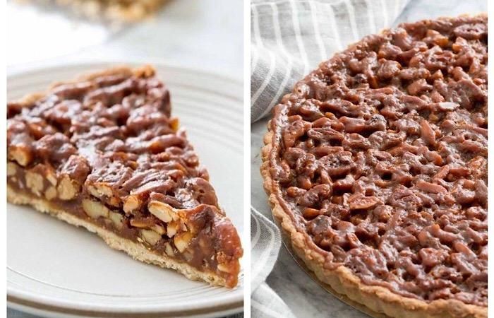 Вкуснейший пирог с орехами и карамелью