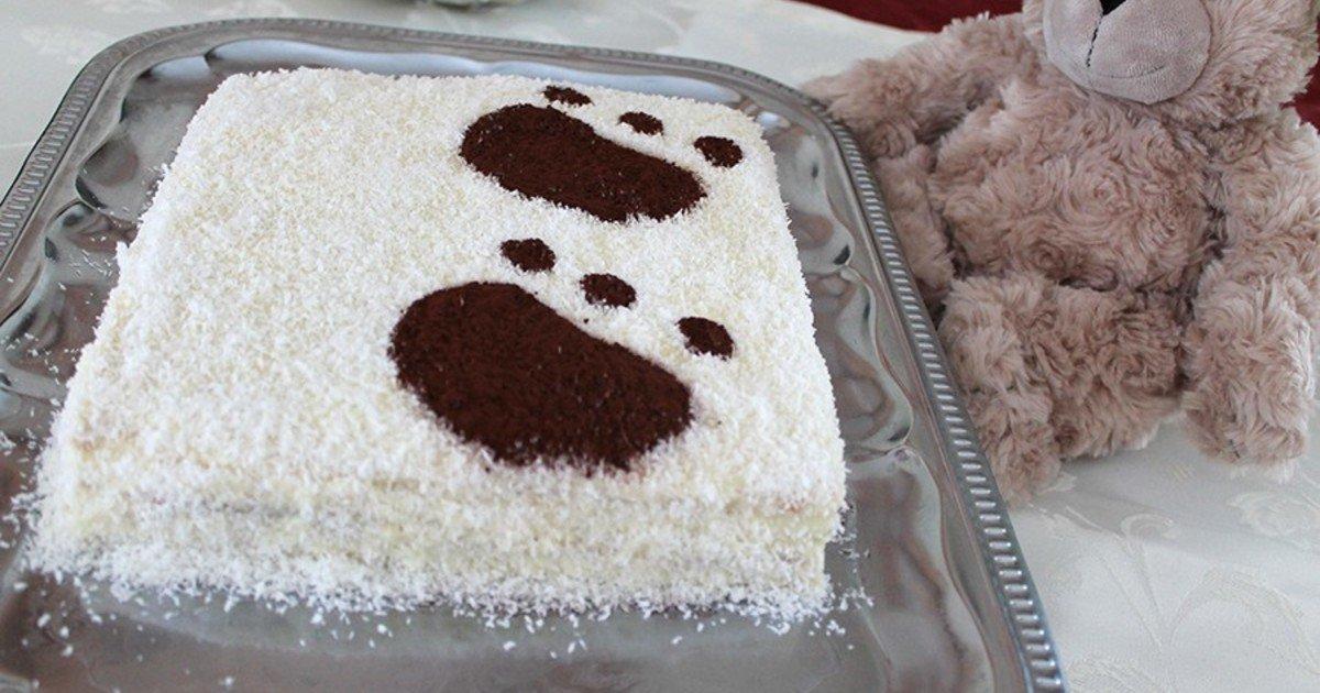"""Ностальгический тортик """"Мишка на севере"""""""