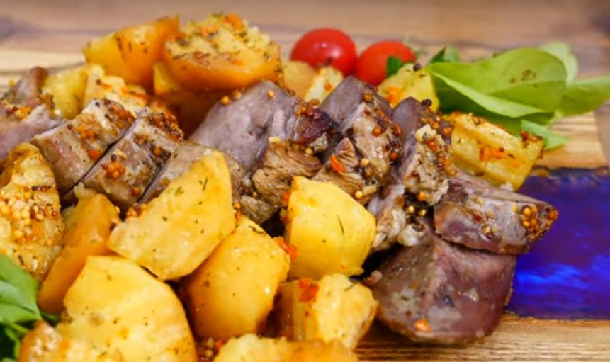 Обычный обед или ужин из языка