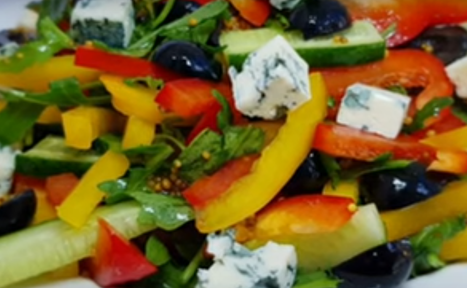 Легкий яркий салат за 10 минут