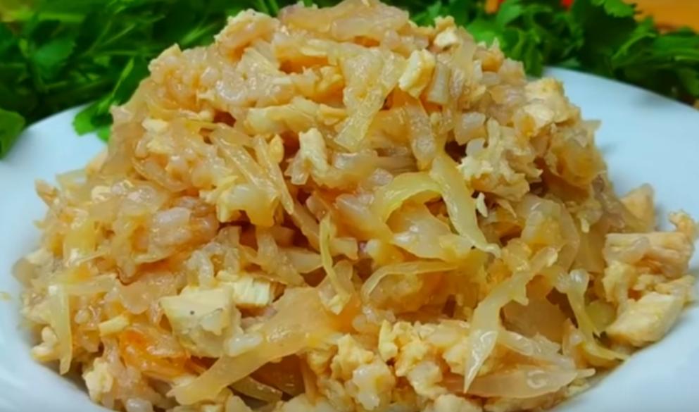 Вкуснейшее блюдо из капусты и риса