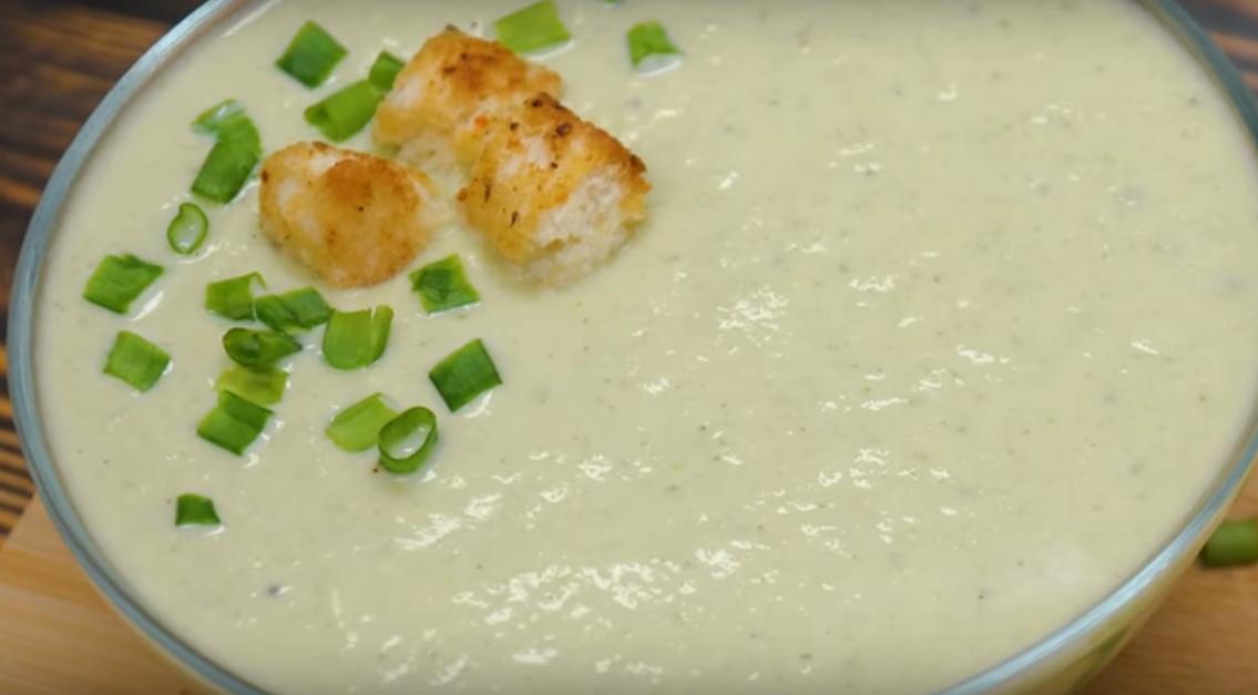 Вкусный рыбный крем-суп с брокколи