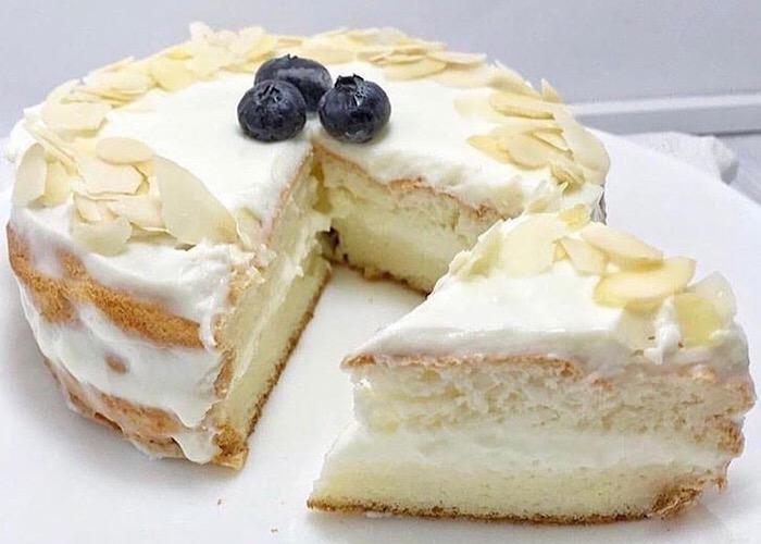 Нежный тортик с заварным кремом