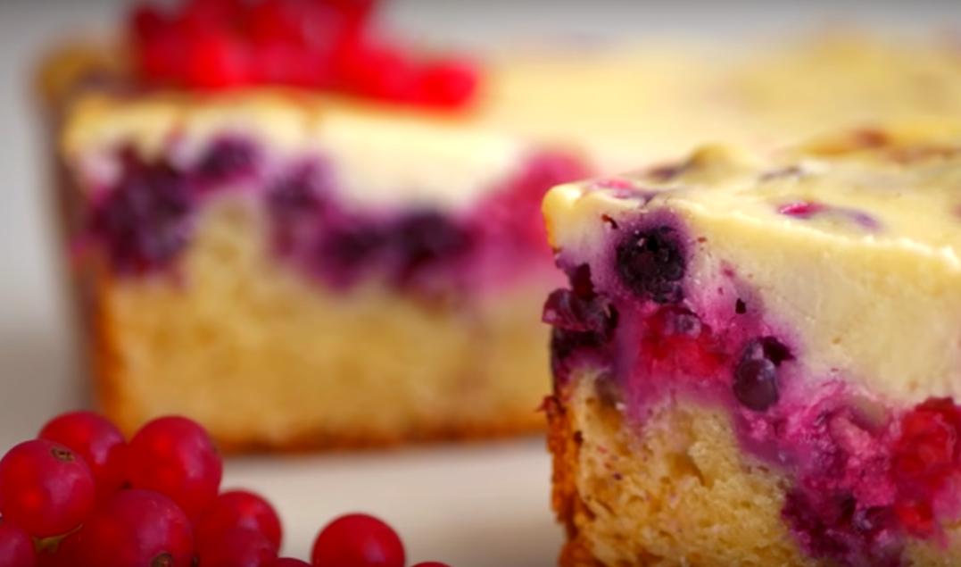 Нежный пирог с ягодами
