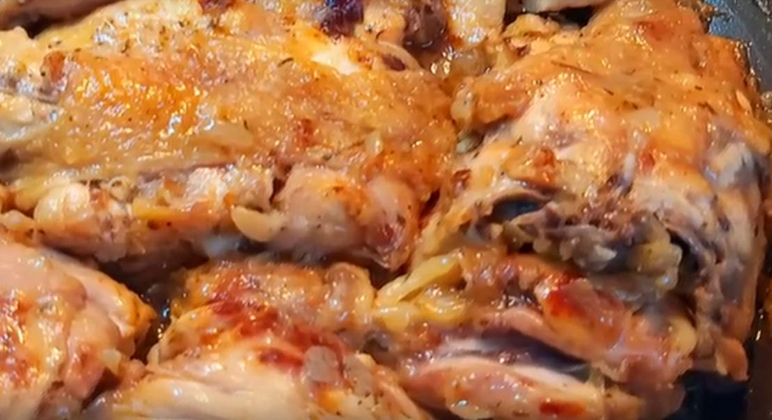 Вкуснейшая курица в луковом соусе