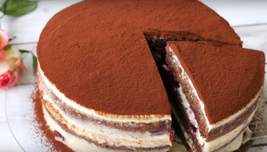 """Очаровательный торт """"Вишневый каприз"""""""