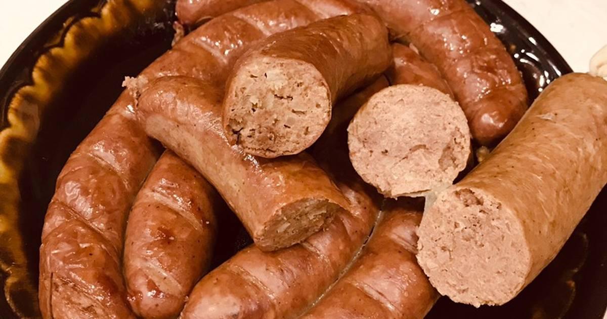 Очень вкусная печеночная колбаса