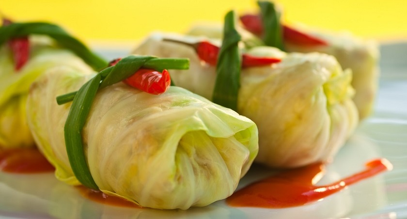 Перцы, фаршированные капустой: для любителей постных рецептов