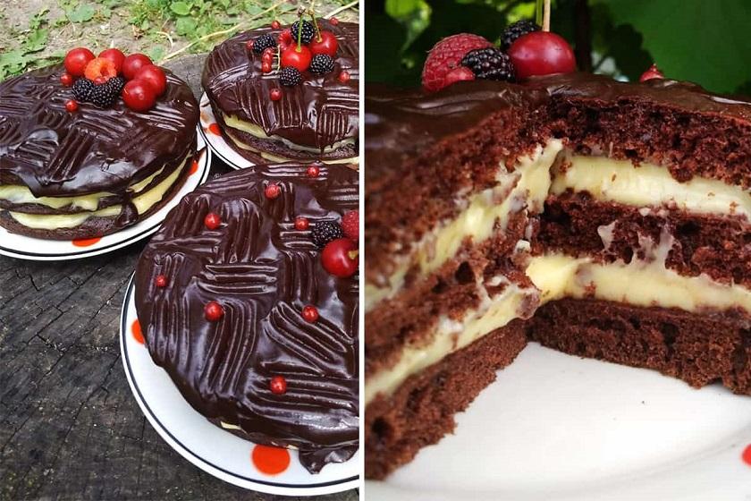 Воздушный торт на скорую руку: и духовку включать не придется