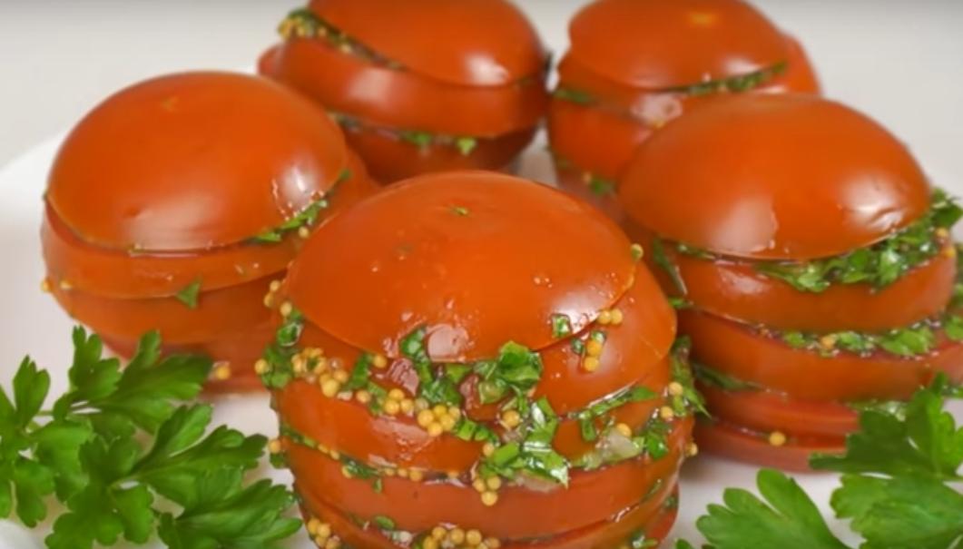 Интересная закуска из помидоров
