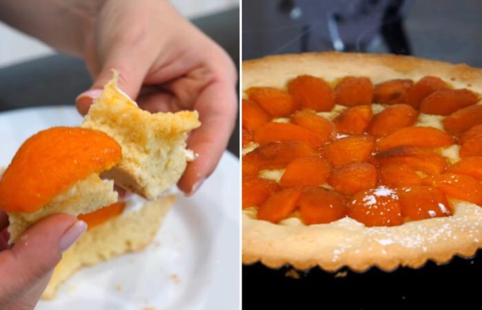 Обалденный песочный пирог с абрикосами