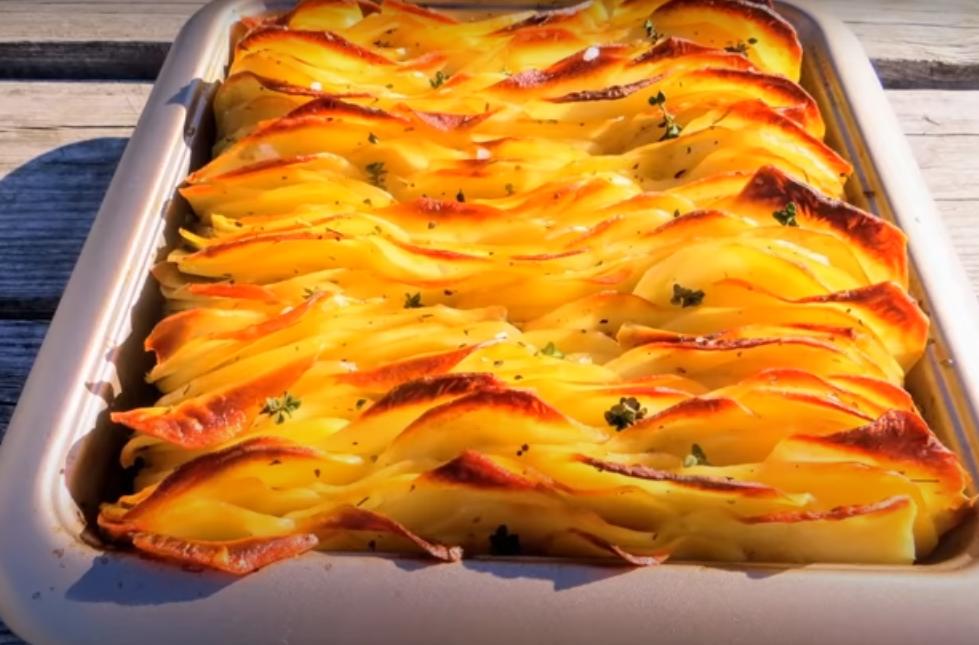 Хрустящий листовой картофель
