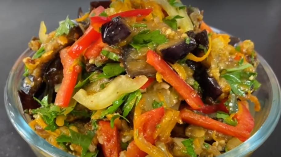 Аппетитный салат с баклажанами: просто и вкусно