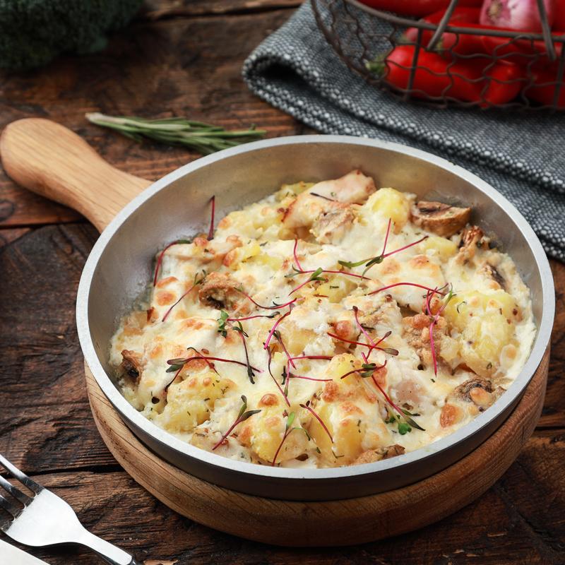 Необычайно вкусные грибочки под сыром