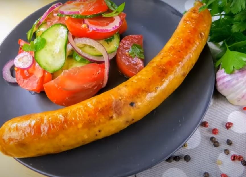 Домашняя колбаса из двух ингредиентов
