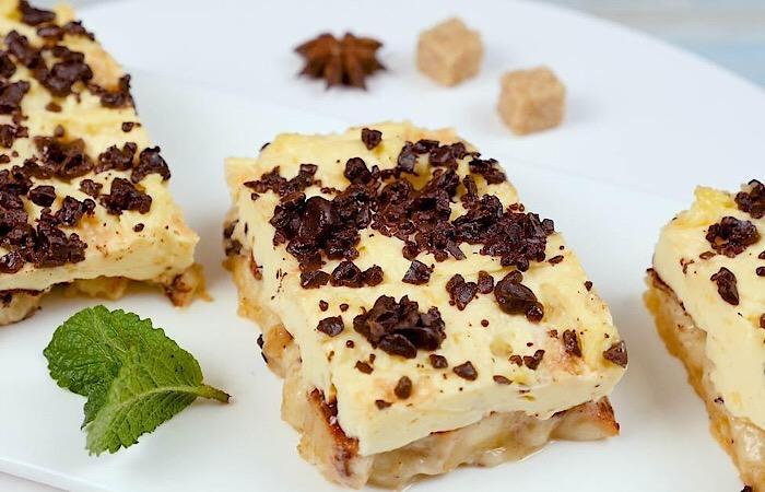 Божественно вкусный яблочный пирог с нежным кремом