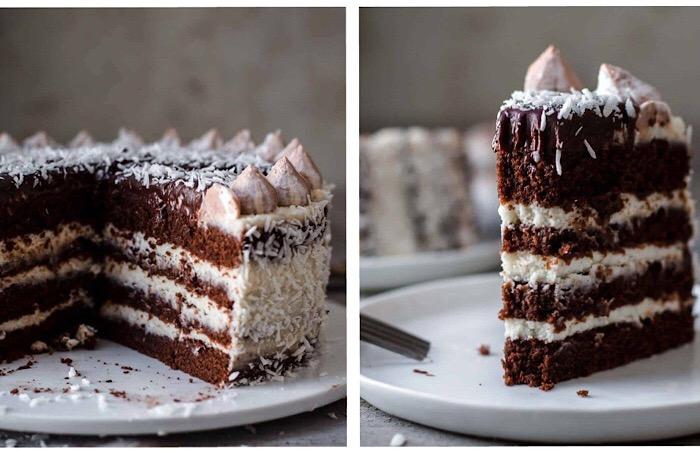 Вкуснейший шоколадно-кокосовый торт