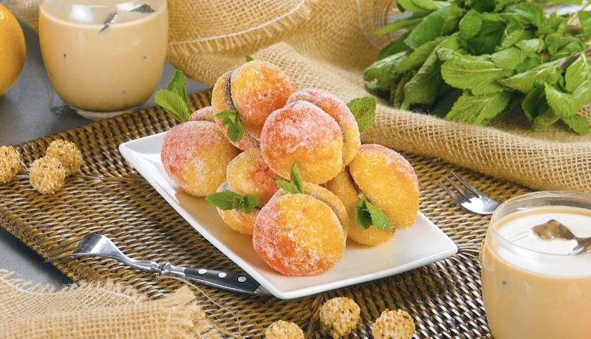 Домашнее печенье «Персики»: простой, но очень красивый десерт