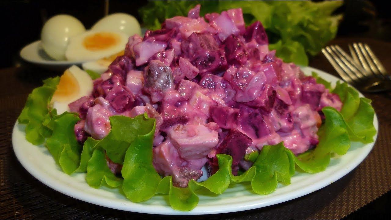 Финский салат с сельдью и свеклой