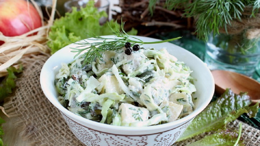 Скандинавский салат с селедкой: закуска северных народов