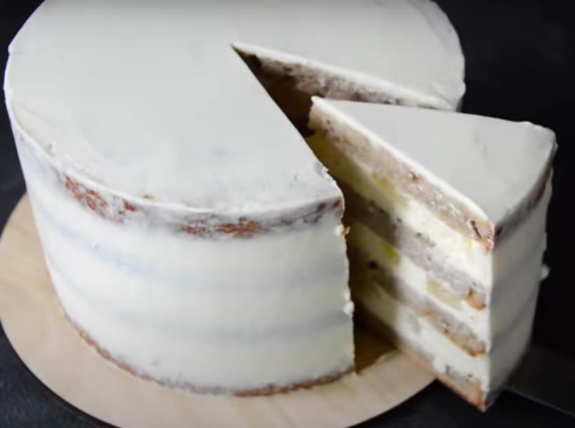 """Торт """"Колибри"""" с банановым бисквитом"""