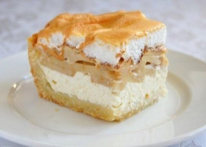 Бесподобный творожно-яблочный пирог
