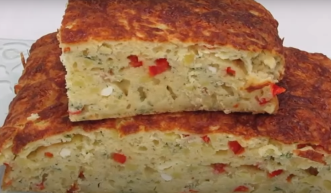 Картофельный пирог на перекус или вместо хлеба