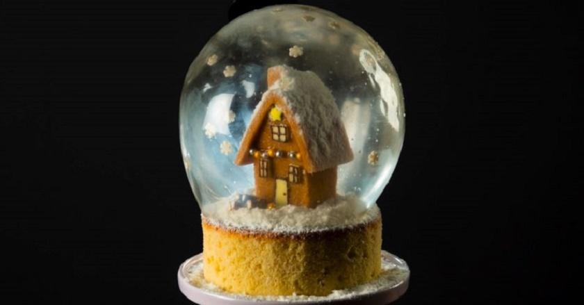 Торт «Снежный шар»: восхитительный десерт для главного праздника года