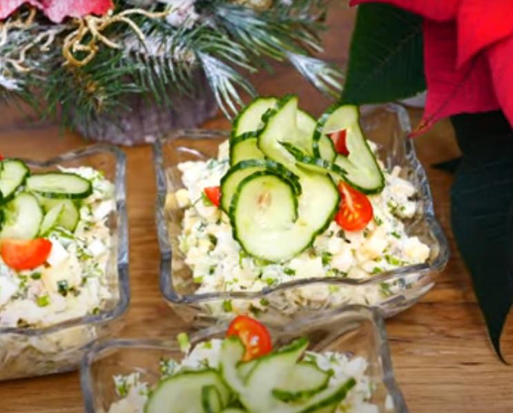 Салат с рыбкой к праздничному столу