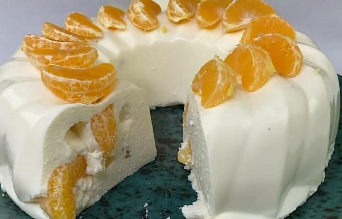 Вкуснейший творожный торт с мандаринами