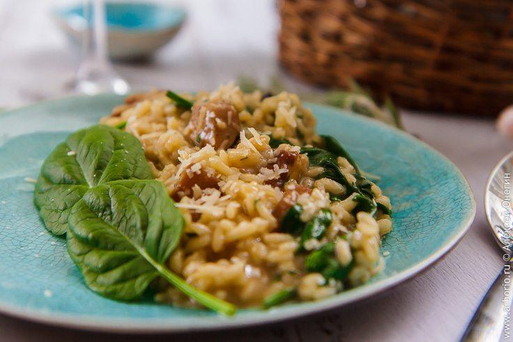 Отменный рис с грибами и сыром