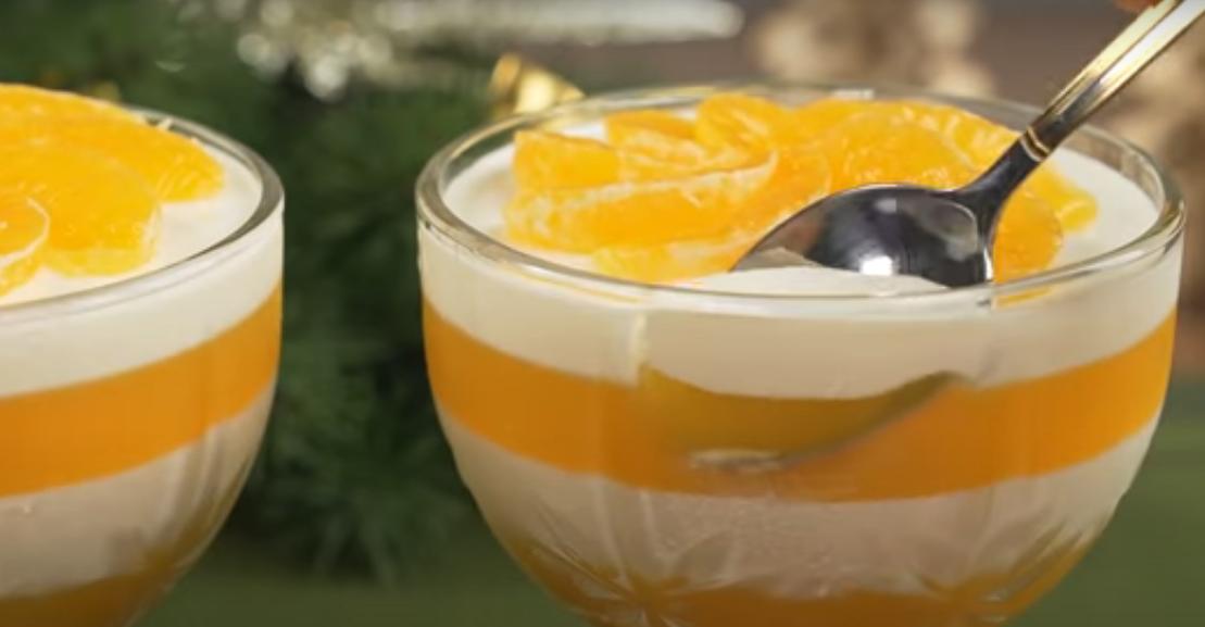 Шикарный десерт из мандаринов